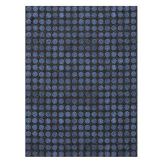 CIRCLES1 BLACK MARBLE & BLUE STONE TABLECLOTH