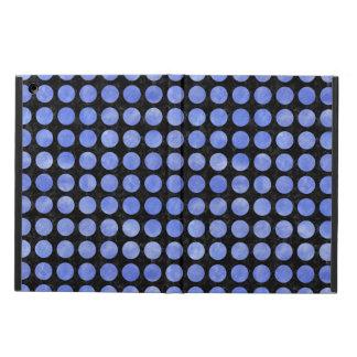 CIRCLES1 BLACK MARBLE & BLUE WATERCOLOR iPad AIR COVER