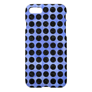 CIRCLES1 BLACK MARBLE & BLUE WATERCOLOR (R) iPhone 8/7 CASE