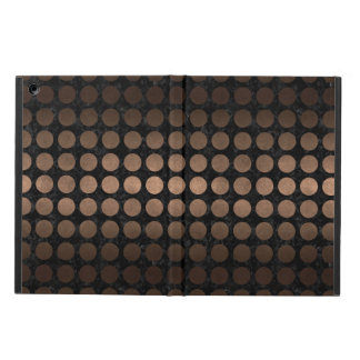 CIRCLES1 BLACK MARBLE & BRONZE METAL iPad AIR COVER
