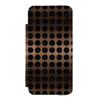 CIRCLES1 BLACK MARBLE & BRONZE METAL (R) INCIPIO WATSON™ iPhone 5 WALLET CASE