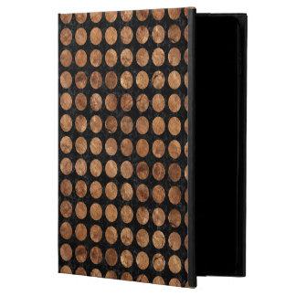 CIRCLES1 BLACK MARBLE & BROWN STONE POWIS iPad AIR 2 CASE