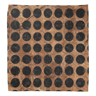 CIRCLES1 BLACK MARBLE & BROWN STONE (R) BANDANA