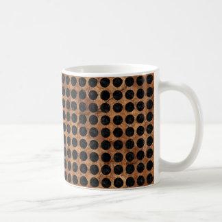 CIRCLES1 BLACK MARBLE & BROWN STONE (R) COFFEE MUG
