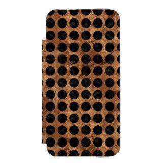 CIRCLES1 BLACK MARBLE & BROWN STONE (R) INCIPIO WATSON™ iPhone 5 WALLET CASE