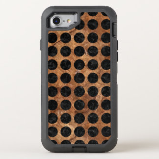 CIRCLES1 BLACK MARBLE & BROWN STONE (R) OtterBox DEFENDER iPhone 8/7 CASE