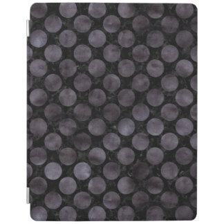 CIRCLES2 BLACK MARBLE & BLACK WATERCOLOR iPad COVER