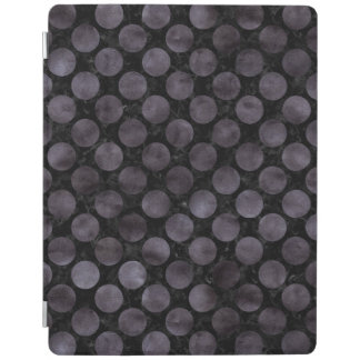 CIRCLES2 BLACK MARBLE & BLACK WATERCOLOR iPad SMART COVER