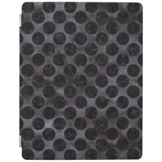 CIRCLES2 BLACK MARBLE & BLACK WATERCOLOR (R) iPad SMART COVER
