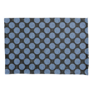 CIRCLES2 BLACK MARBLE & BLUE DENIM PILLOWCASE