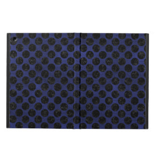 CIRCLES2 BLACK MARBLE & BLUE LEATHER (R) iPad AIR CASE