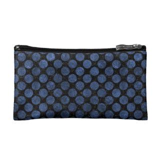 CIRCLES2 BLACK MARBLE & BLUE STONE COSMETIC BAG
