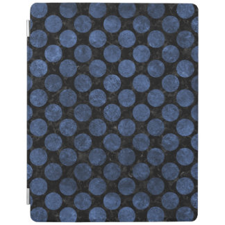 CIRCLES2 BLACK MARBLE & BLUE STONE iPad COVER