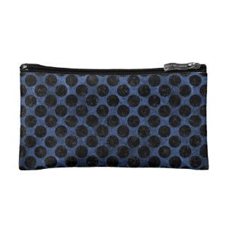 CIRCLES2 BLACK MARBLE & BLUE STONE (R) COSMETICS BAGS