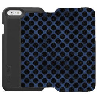 CIRCLES2 BLACK MARBLE & BLUE STONE (R) INCIPIO WATSON™ iPhone 6 WALLET CASE