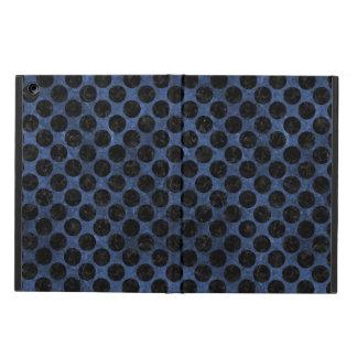 CIRCLES2 BLACK MARBLE & BLUE STONE (R) iPad AIR COVER