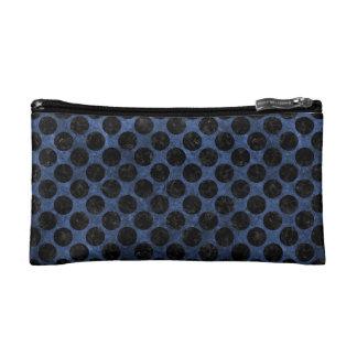 CIRCLES2 BLACK MARBLE & BLUE STONE (R) MAKEUP BAG