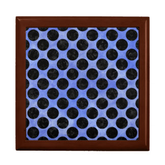 CIRCLES2 BLACK MARBLE & BLUE WATERCOLOR (R) GIFT BOX