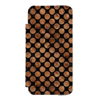 CIRCLES2 BLACK MARBLE & BROWN STONE INCIPIO WATSON™ iPhone 5 WALLET CASE