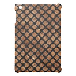 CIRCLES2 BLACK MARBLE & BROWN STONE iPad MINI COVERS