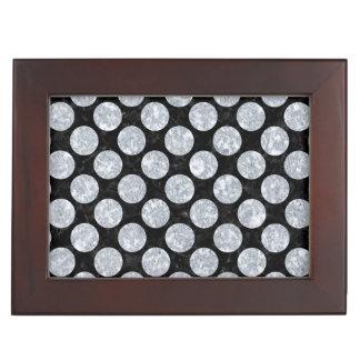 CIRCLES2 BLACK MARBLE & GRAY MARBLE KEEPSAKE BOX