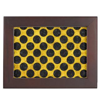 CIRCLES2 BLACK MARBLE & YELLOW MARBLE (R) KEEPSAKE BOX