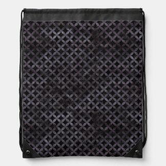 CIRCLES3 BLACK MARBLE & BLACK WATERCOLOR DRAWSTRING BAG