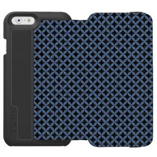 CIRCLES3 BLACK MARBLE & BLUE DENIM INCIPIO WATSON™ iPhone 6 WALLET CASE