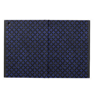 CIRCLES3 BLACK MARBLE & BLUE LEATHER (R) iPad AIR CASE