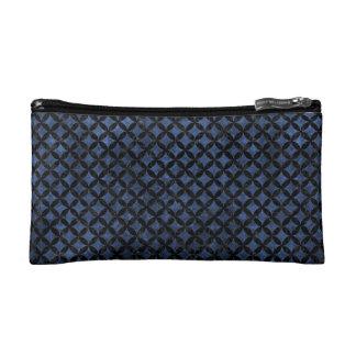 CIRCLES3 BLACK MARBLE & BLUE STONE (R) MAKEUP BAG