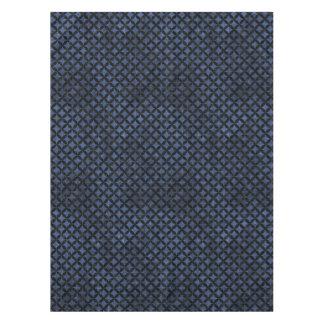CIRCLES3 BLACK MARBLE & BLUE STONE (R) TABLECLOTH