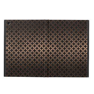 CIRCLES3 BLACK MARBLE & BRONZE METAL CASE FOR iPad AIR