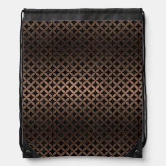 CIRCLES3 BLACK MARBLE & BRONZE METAL DRAWSTRING BAG