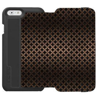 CIRCLES3 BLACK MARBLE & BRONZE METAL INCIPIO WATSON™ iPhone 6 WALLET CASE