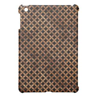 CIRCLES3 BLACK MARBLE & BROWN STONE iPad MINI COVERS
