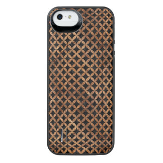 CIRCLES3 BLACK MARBLE & BROWN STONE iPhone SE/5/5s BATTERY CASE