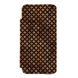 CIRCLES3 BLACK MARBLE & BROWN STONE (R) INCIPIO WATSON™ iPhone 5 WALLET CASE