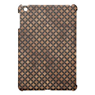 CIRCLES3 BLACK MARBLE & BROWN STONE (R) iPad MINI CASE