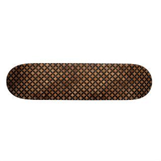 CIRCLES3 BLACK MARBLE & BROWN STONE (R) SKATE BOARD