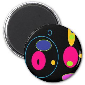 circles 6 cm round magnet