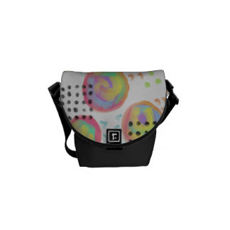 Circles Abstract Art Handbag Courier Bag