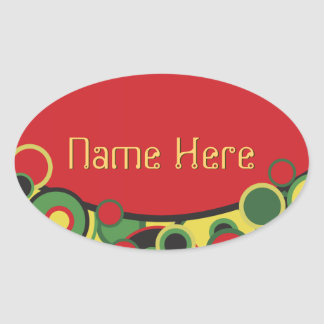 Circles Abstract Oval Stickers