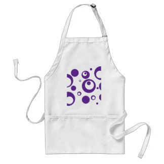 Circles and Dots in Grape Purple Standard Apron