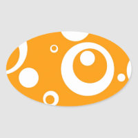 Circles and Dots in Marmalade Orange