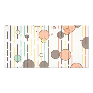 Circles and lines personalized photo card