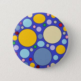 circles and polka dots 6 cm round badge