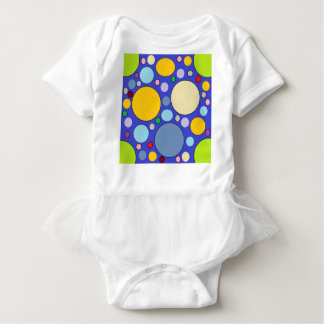 circles and polka dots baby bodysuit