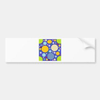 circles and polka dots bumper sticker