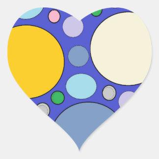 circles and polka dots heart sticker