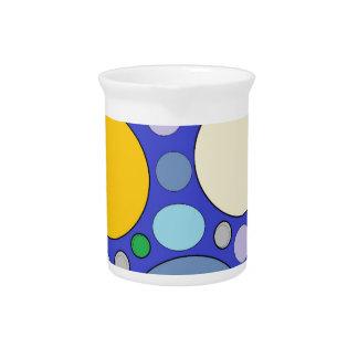 circles and polka dots pitcher